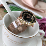 Women's Watch Love Flower Dial Milan mesh Casual watch