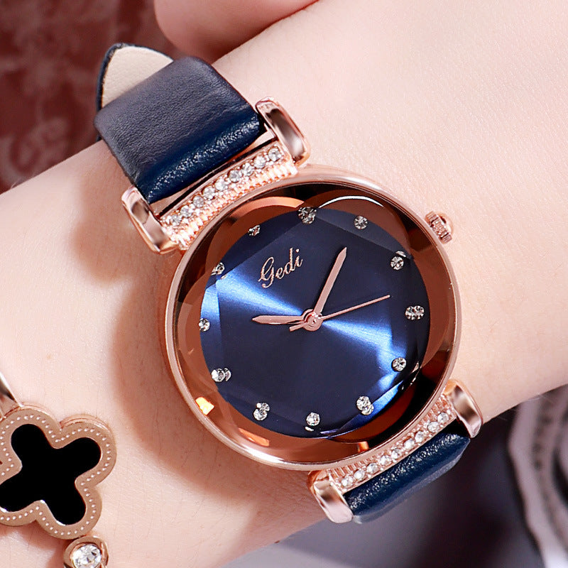 Irregular Mirror Quartz Women's Watch