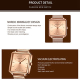 Elegant Square Quartz Women's Watch