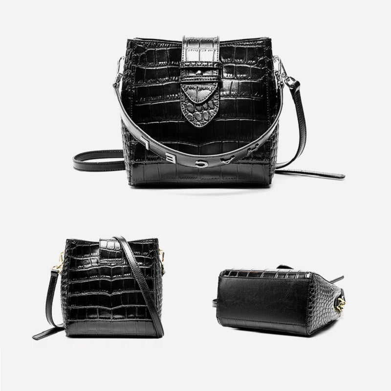 Fashion Crocodile Pattern Handbag