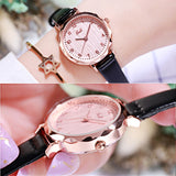 Simple Numberal Scale Quartz Women's Watch