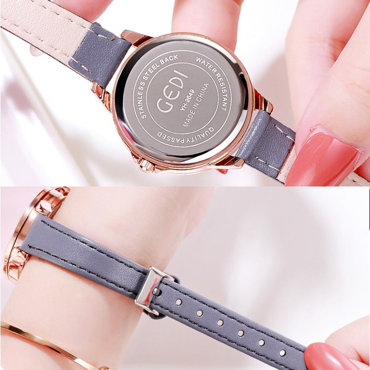 Cat Pattern Diamond Dial Women's Watch