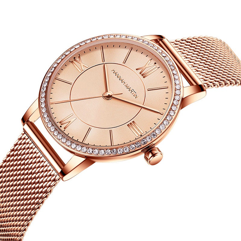 Strarry Sky Dial Waterproof Women's Watch