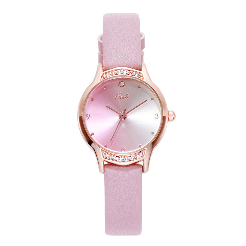 Gradient Dial With Scale Women's Watch