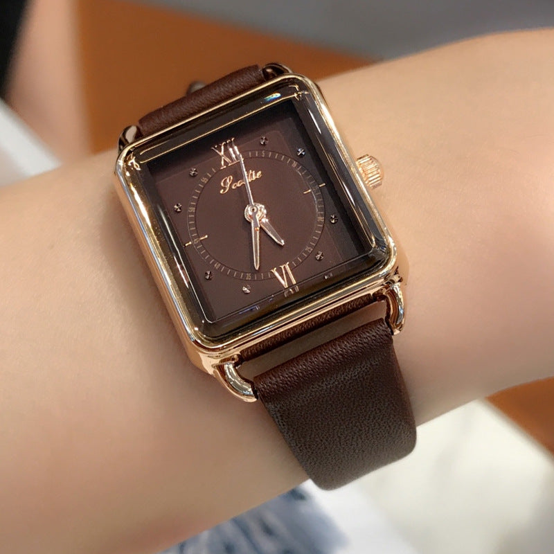 Vintage Simple Square Women's Watch