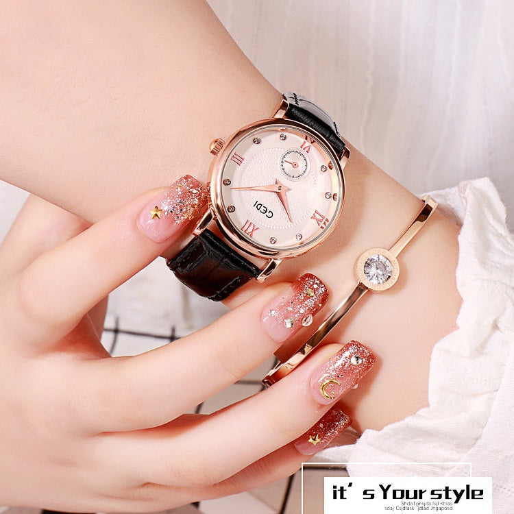 Simple Diamond Inlaid Women's Watch