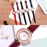 Personal Large Dial Leather Strap Women's Watch