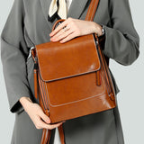 Fashion Retro Oil Wax Leather Backpack