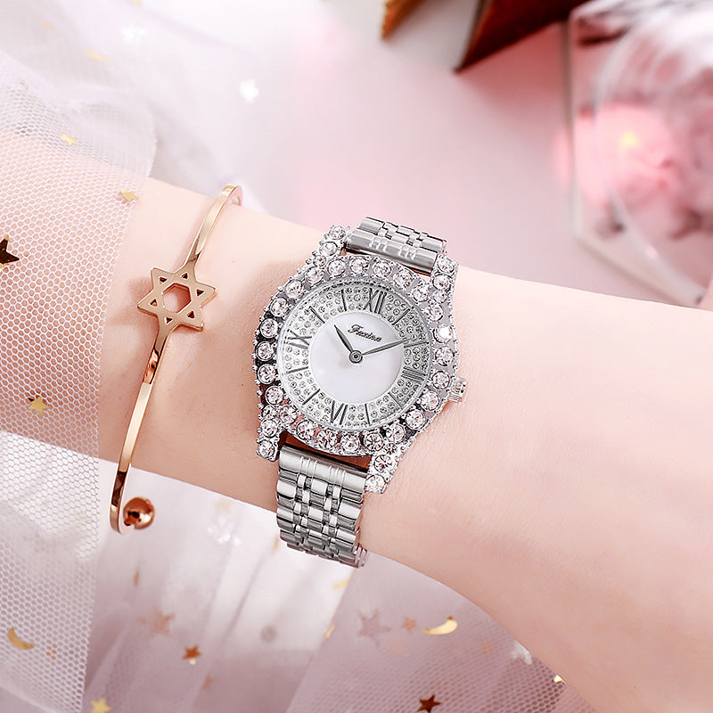 Personality Zircon With Scale Women's Watch