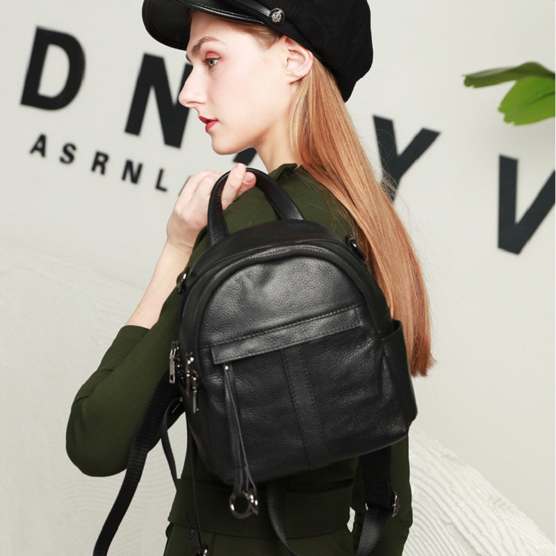 Fashion Black Small Backpack