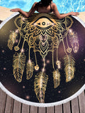 Dreamcatcher Pattern 150cm Round Beach Towel