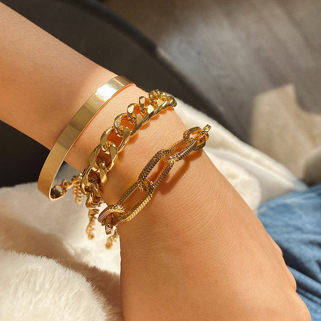 Fashion golden chain bracelet bracelet set