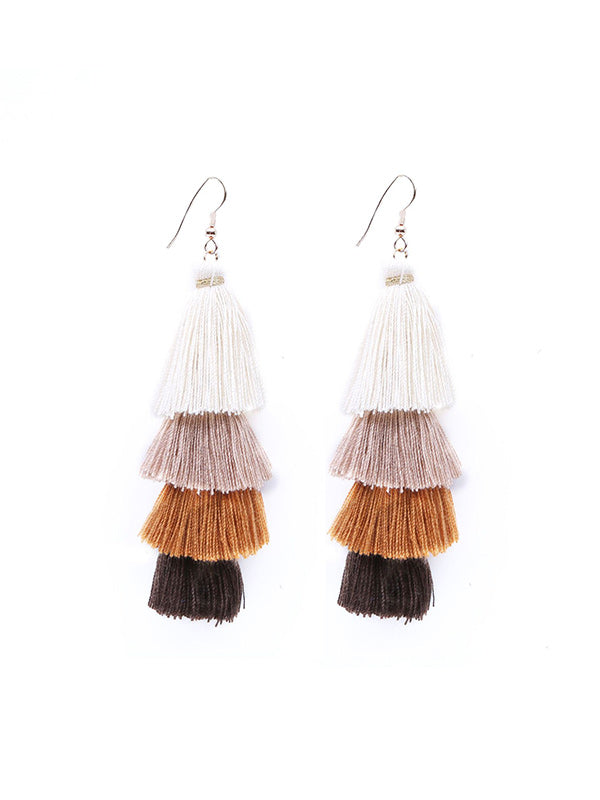 Long&Multi-layer Ethnic Earrings