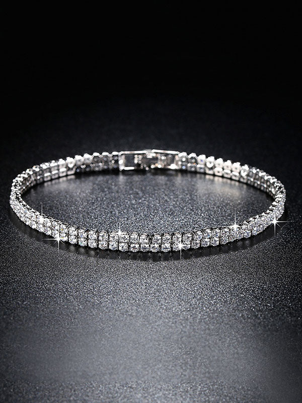 One /Two/ Three Rows full zircon Bracelets