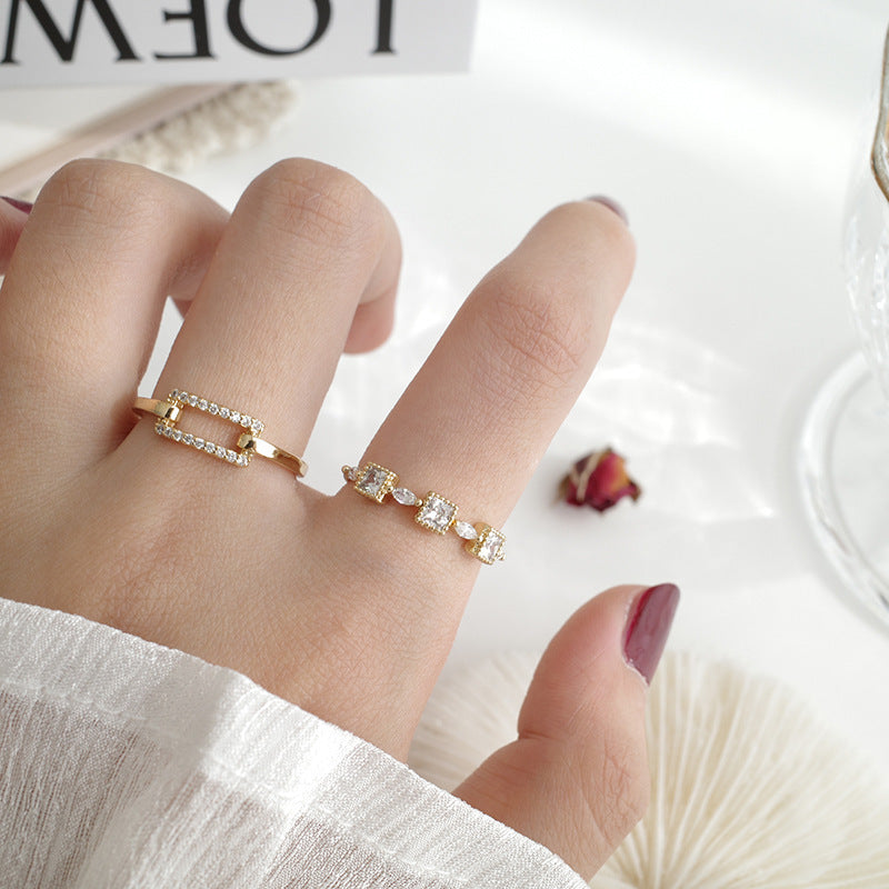 Fashionable and simple women's adjustable Vintage index finger ring ring