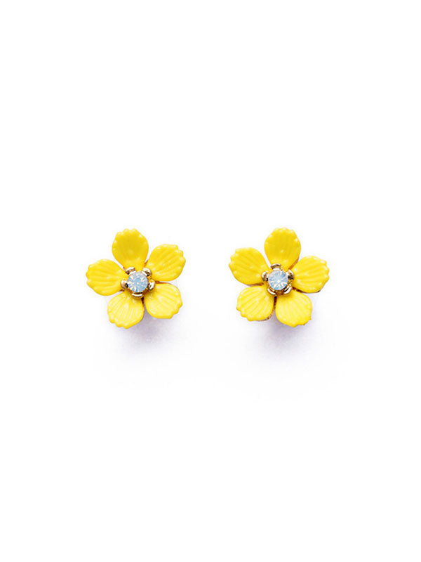 Yellow Flower Earstud