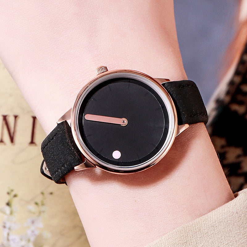 Fashion belt large dial women's watch