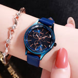 Fashion Calendar Leisure Belt Lady Watch