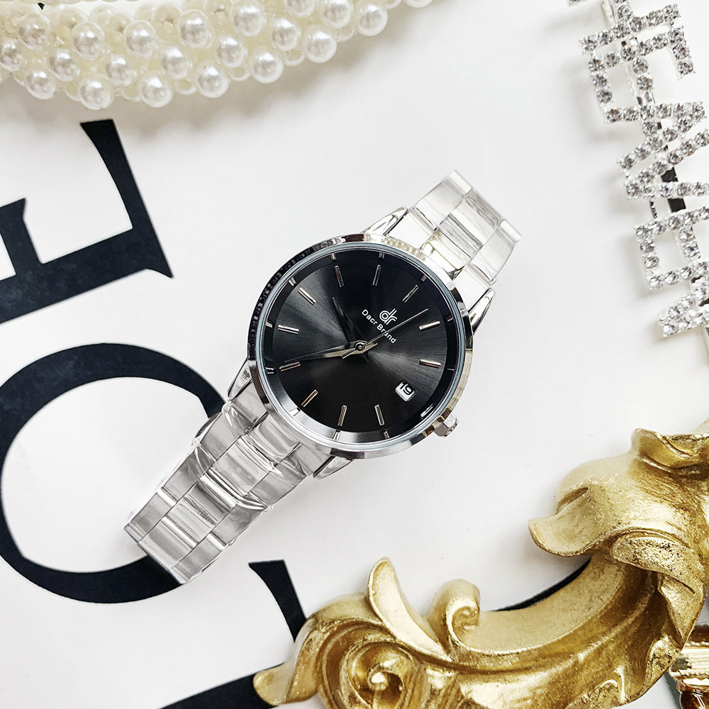 Fashion simple temperament waterproof steel band Shi Ying ladies watch