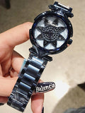 Sunflower Pattern Stainless Steel Women's Watch