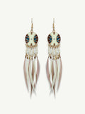 Tassel feather earing for vacation