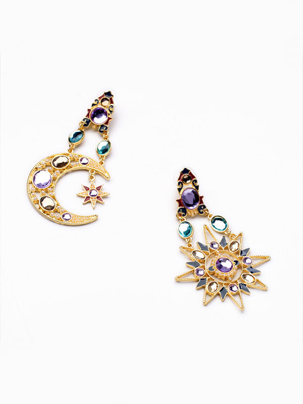 Exaggerated Star&Moon Earring