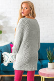Gray Winter Break Knit Tunic Sweater