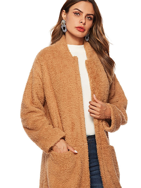 Plush Brown Coat