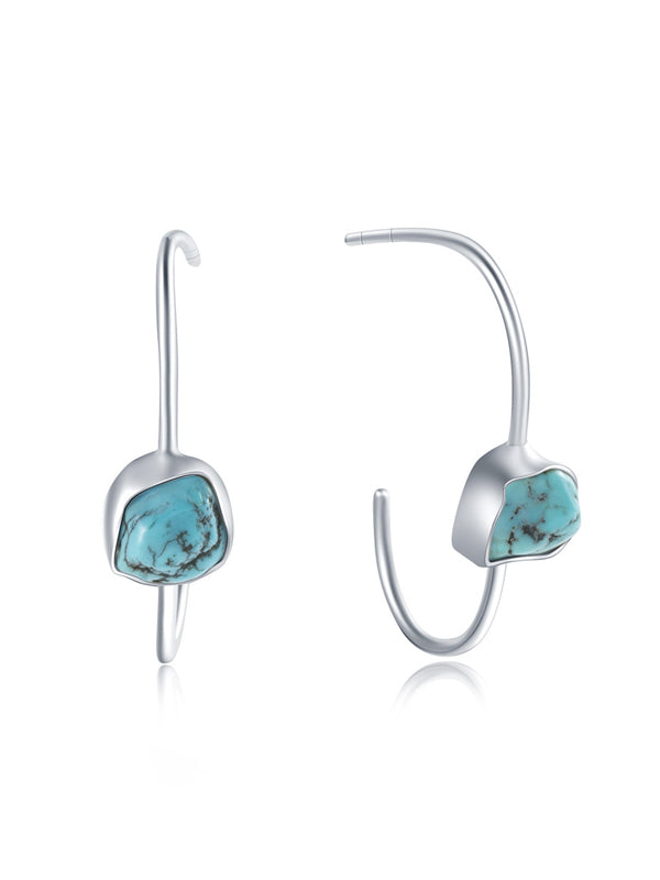 Irregular Natural Turquoise Earrrings