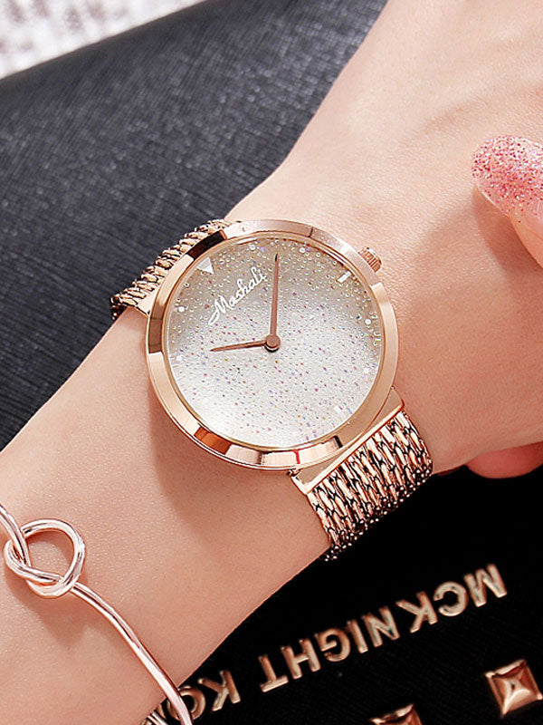 Women's Watch Shiny green large dial with full diamond tassel strap women's clothing  watch