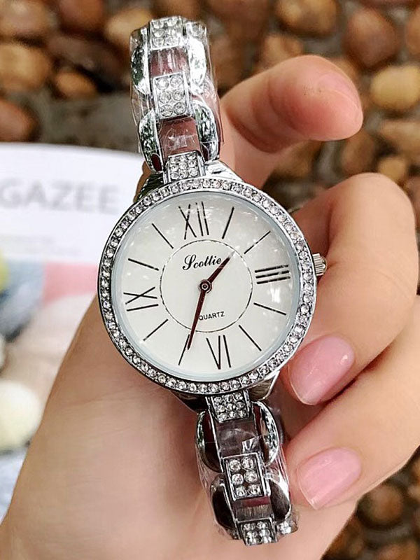 Roman Numeral Diamond Women's Watch
