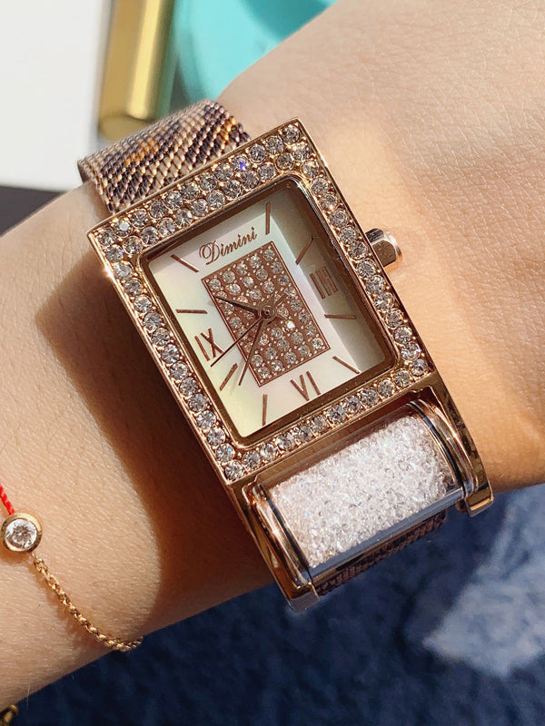 Fashion&Classic Square Pattern Women's Watch