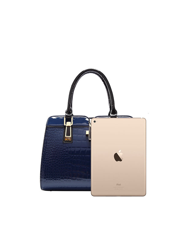 Fashion Simple Bright leather Handbag
