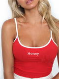 Alphabet Honey Slim Vest