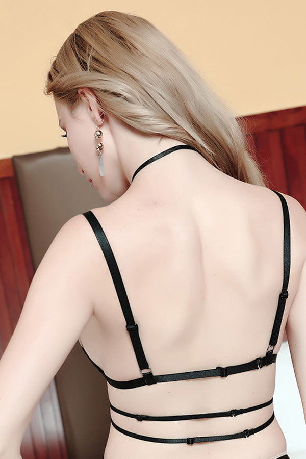 Hanging Neck Adjustable Body Harness Bra