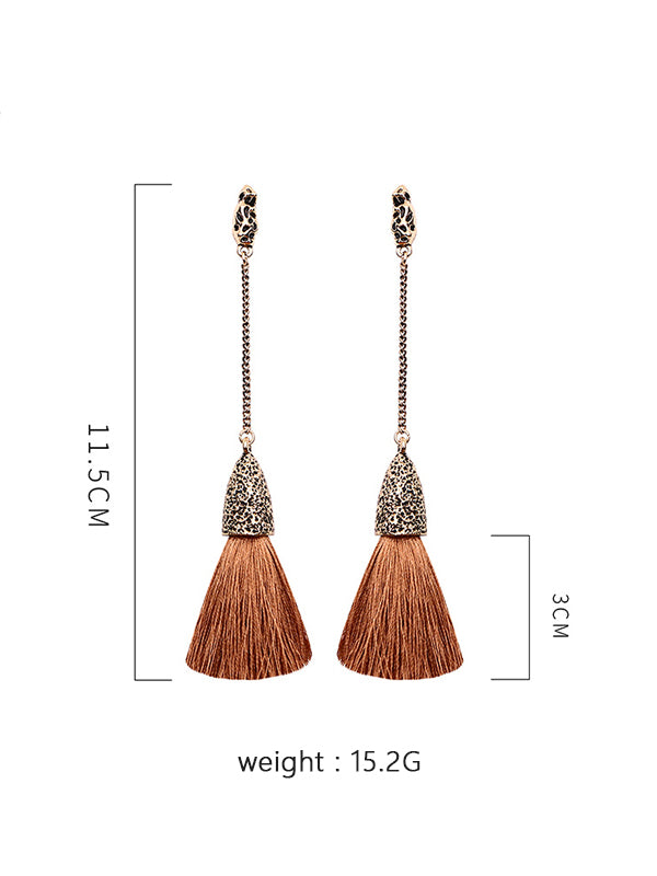 Long Tassel Bohemian Earrings