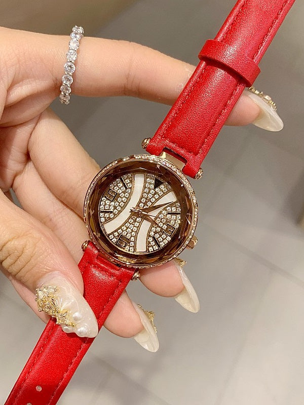 Personality Shell Dial Leather Belt Women's Watch