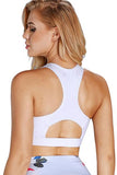 Scoop Neck Hollow-out Back Sport Bra Top