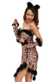 Fluffy Leopard Costume Set