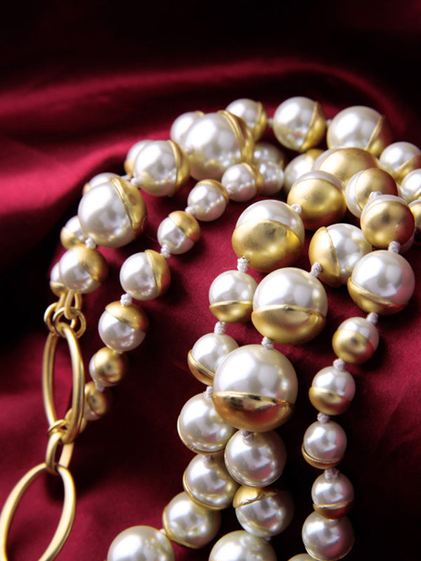 Elegant Glass Pearl Necklace