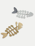 Fish metal earring