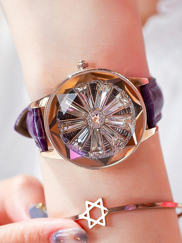 Big Turnable Style Women's Watch