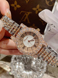 Women's Watch silver zircon shining dial Stainless Steel strap women's clothing watch