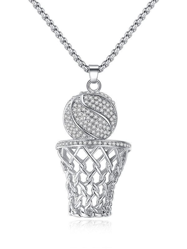 Personality Basketball Frame Necklace