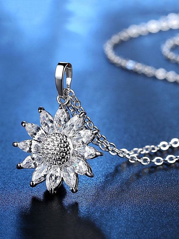 Sunflower Zircon Necklace