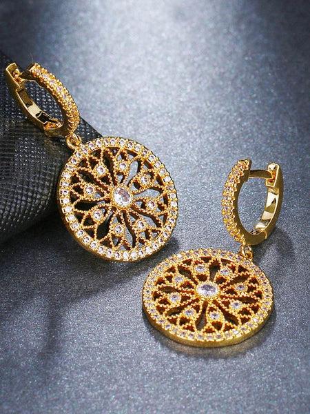 Round Diamond Earrings