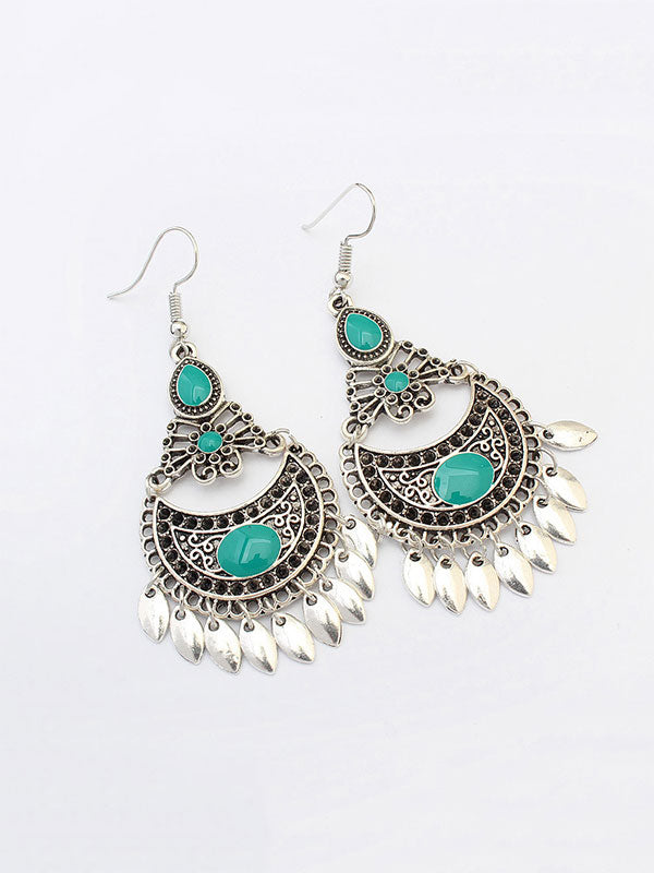 Hollow Crescent Retro Earrings