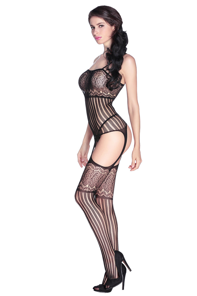 Foxy Suspender Style Lace Body Stockings
