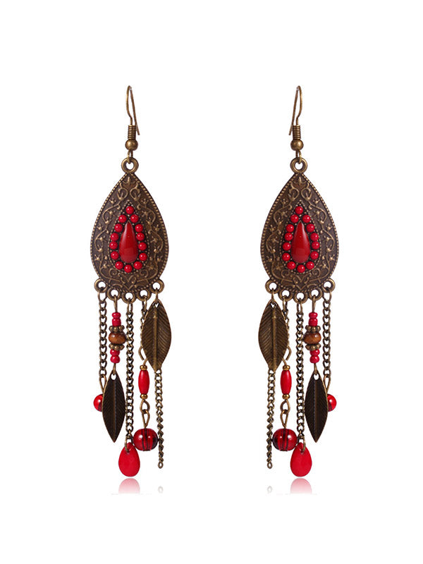 Premium Vintage Tassel Drop Earrings
