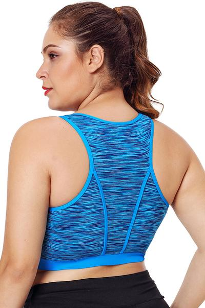 Piping Trim Racerback Workout Bra
